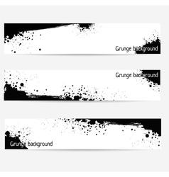 grunge banner set vector image vector image