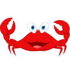happy crab cartoon vector image