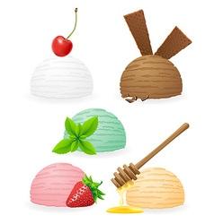 Ice cream balls 02 vector