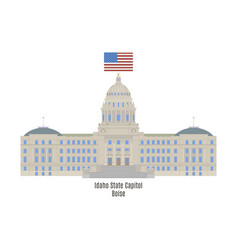 idaho state capitol vector image