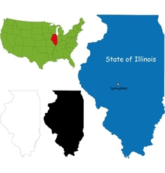 Illinois map vector