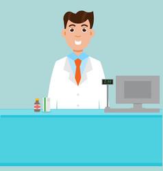 man male pharmacist vector image
