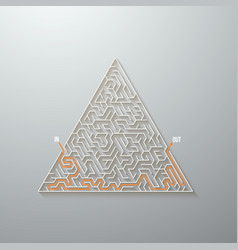 maze labyrinth game puzzle with solution vector image vector image