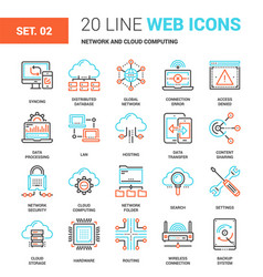 Network and cloud technology vector