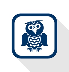 Owl flat icon vector