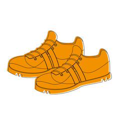 pair of sneakers icon image vector image vector image