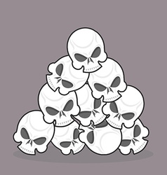 pile of skulls vector image vector image