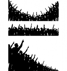 pointing crowds vector image vector image