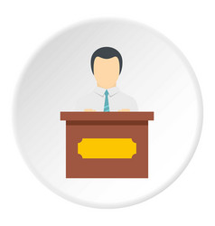 Public speaker icon circle vector