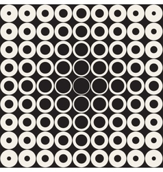 Seamless Grid of Circles Retro Pattern vector image
