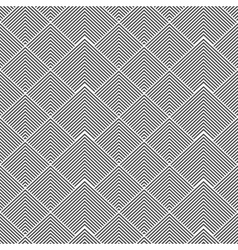 Striped shapes - seamless geometric pattern vector image