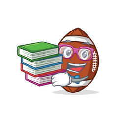 Student with book american football character vector