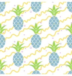 Summer pineapple pattern design Pastel colors vector image vector image