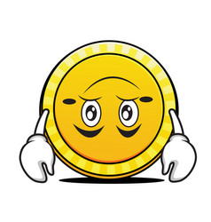 Tired coin cartoon character collection vector