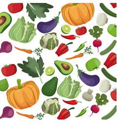 Vegetables fresh nutrition harvest food vector