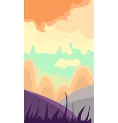 Vertical landscape hills at dawn vector