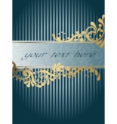 vintage victorian banner vertical vector image