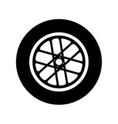 Wheel car emblem icon vector