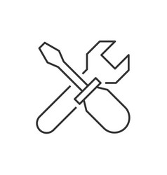 Wrench crosses screwdriver icon vector