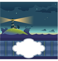 Card with lighthouse vector
