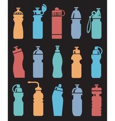 Water bottles set vector