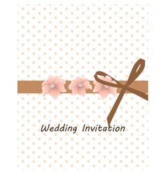Traditional vintage invitation card vector