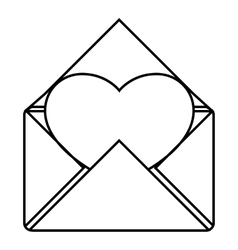Love letter icon outline style vector