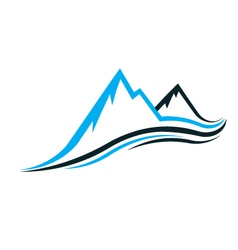 Mountain swoosh logo vector image
