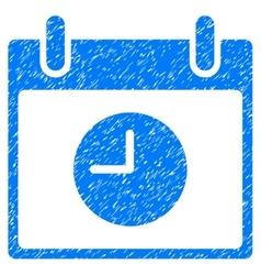 Clock calendar day grainy texture icon vector