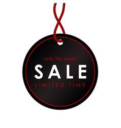 Sale black round banner template design vector