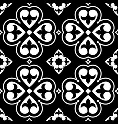 Spanish tiles pattern moroccan or portuguese tile vector
