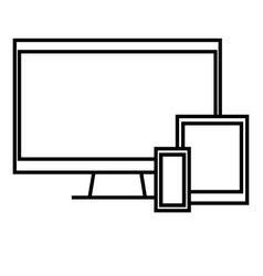 Devices icon vector