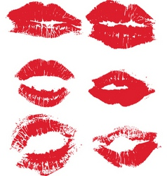 Kisses design vector