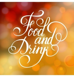 Food and drink typographic poster design vector