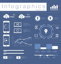 Info graphics mobile data set vector