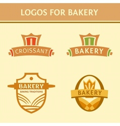 Set of logos for the bakery vector