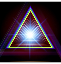 Abstract triangle techno background vector