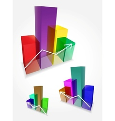 3d bar graphs vector image