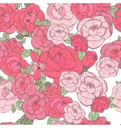 Pink rose on the white background vector