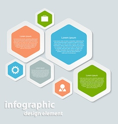 Abstract paper infographic vector