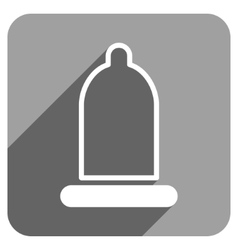 Preservative Flat Square Icon with Long Shadow vector image