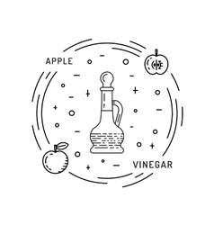 Apple vinegar sauce vector