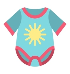 Baby bodysuit icon flat style vector image vector image