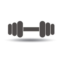 Barbell icon Sport symbol vector image