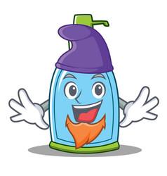 Elf liquid soap character cartoon vector
