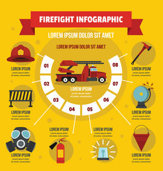 Firefight infographic concept flat style vector
