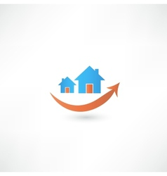 Home sign Real estate concept design Smile vector image
