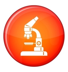 Microscope icon flat style vector