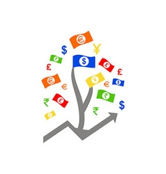 Money tree - symbol of successful business vector