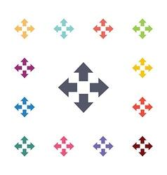 Move flat icons set vector